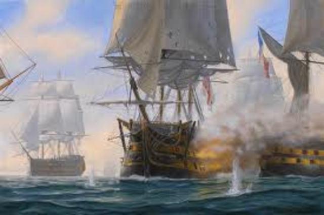 Spanish defeat at Battle of Trafalgar