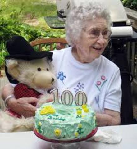 Late Adulthood: Biosocial: Centenarians