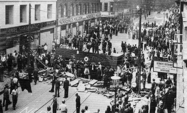 Nazi Riot at Train Station