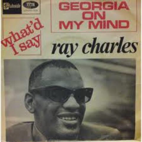"""Ray Charles achieves his first Number One hit: """"Georgia on my Mind"""""""