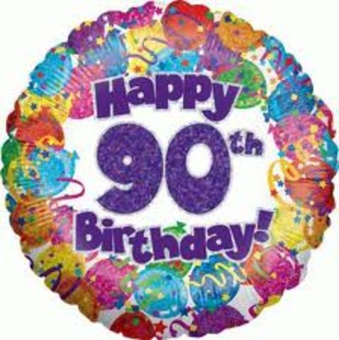 My 90th Birthday!