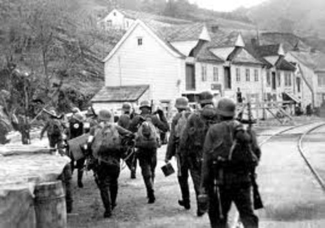 Hitler's armies moved North seizing Denmark and Norway