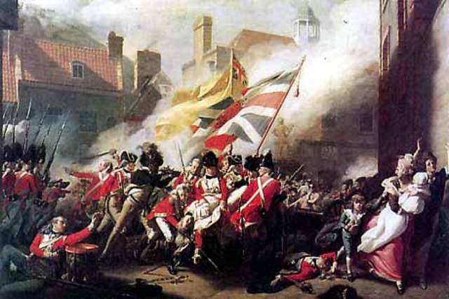 The American colonies win independence from England