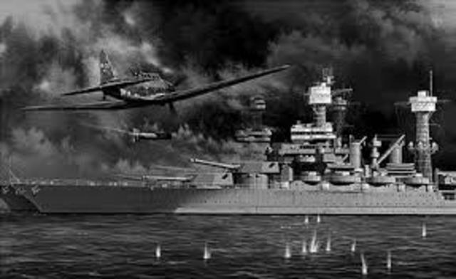 Pearl Harbor in Hawaii attacked by Japanese Naval and Air forces, US declares war on Japan