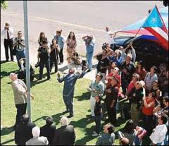 Creaciόn de la bandera de Puerto Rico 1895
