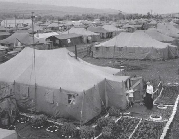 Vladek in American Run Refugee Camp