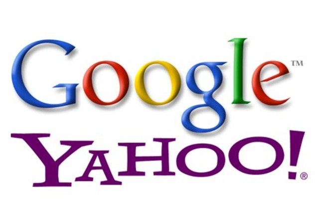 Google Search, Yahoo!.