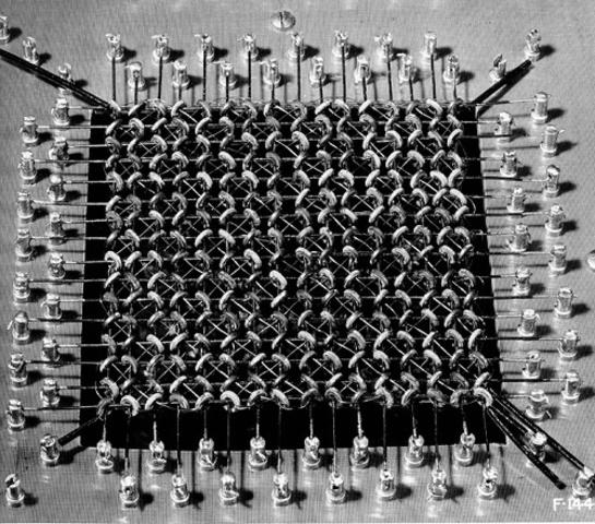 Utilizaban redes de núcleos magnéticos