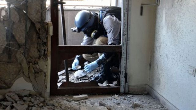 Destrucción de armas químicas en Siria