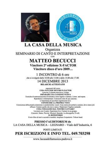 Seminario di Canto e Interpretazione @Legnaro (PD)