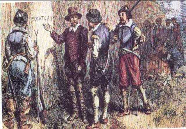 John White Finds Roanoke Colony Abandoned