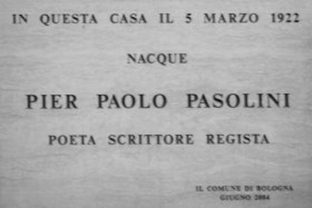 Nascita di Pasolini Pier Paolo.