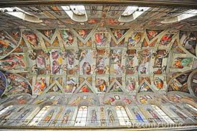 Michelangelo's  painting of the Sistine chapel