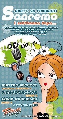 """""""Sanremo una settimana dopo"""" @Asha Club - Treviso"""