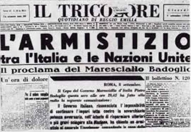 L'Armistizio dell'Italia con gli alleati.