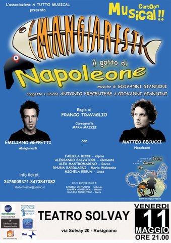 """""""Mangiaresti, il gatto di Napoleone"""" @Teatro Solvay - Rosignano Marittimo (LI)"""
