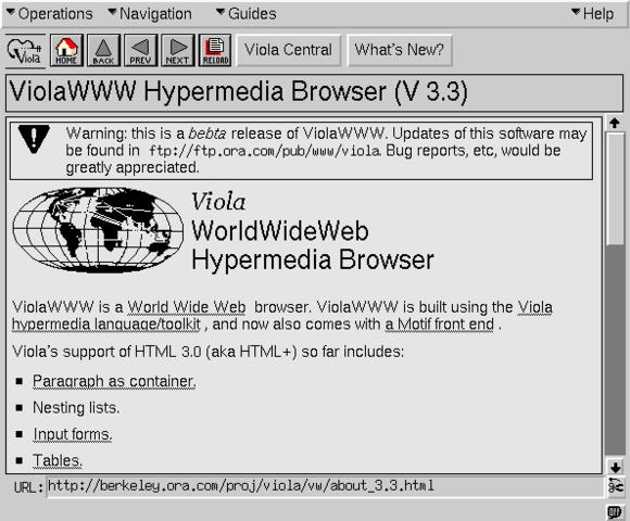 ViolaWWW Browser