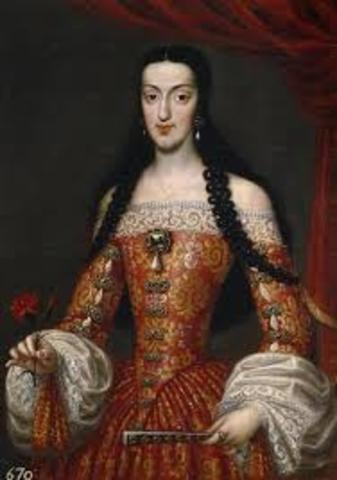 Marriage between Charles II and Marie Louise of Orleans