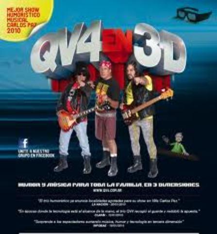 QV4 en 3D, la nueva dimensión de la diversión.