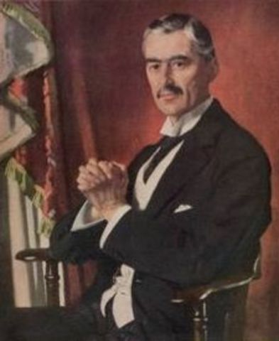 Neville Chamberlain becomes Prime Minister of England