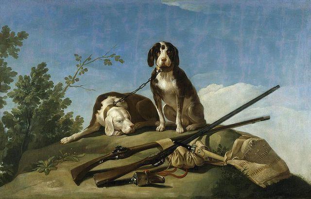 """""""Perros y útiles de caza"""" by Goya"""