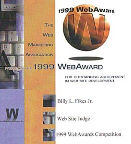 1999 Web Awards Judge