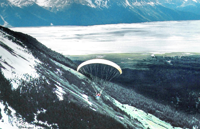 Hang Gliding in Girdwood with brother Lewis