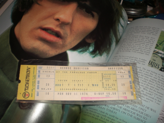 George Harrison in concert