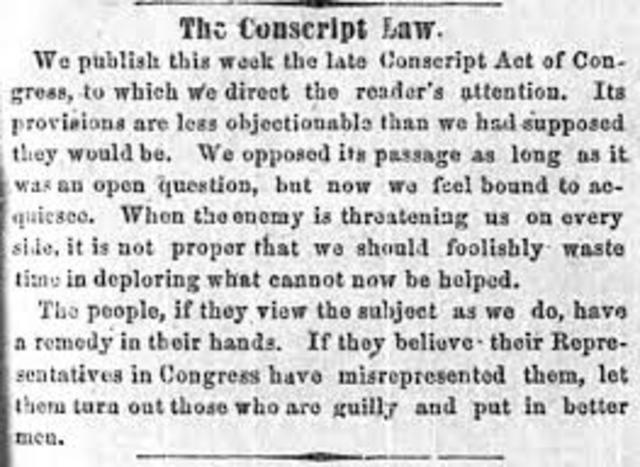 Confederacy enacts conscription