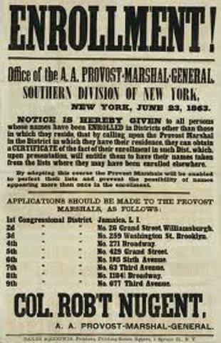 Union enacts conscription