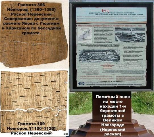 Берестяные грамоты (XI—XV вв)