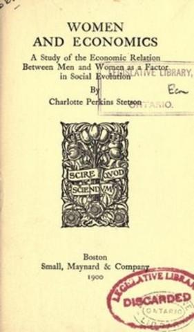 Charlotte Perkins Gilman Writes Women and Economics