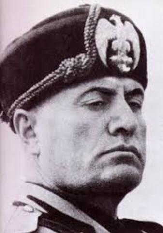 Benito Mussolini's fascist government in Italy