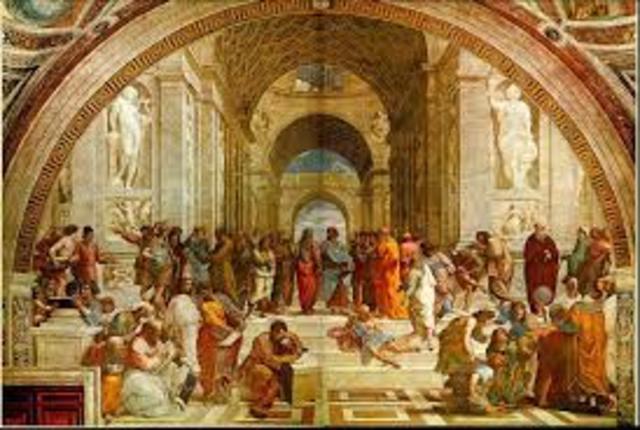 raphael paints school of athens