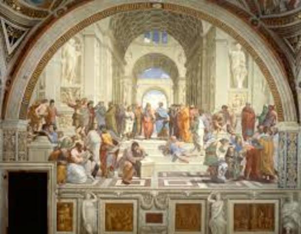 """Raphael paints """"School of Athens"""""""