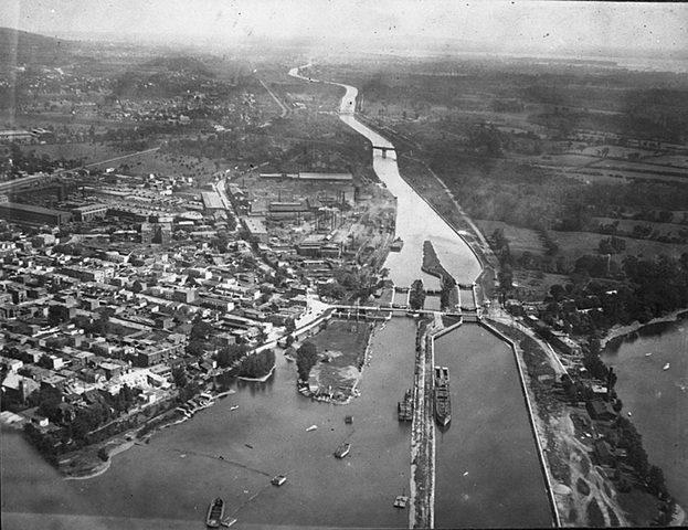 Construction canal Lachine