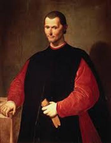 "Machiavelli writes ""The Prince"""