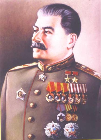 Joseph Stalins and his communist rule.