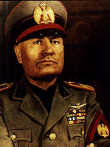 Benito Mussolini's total rule of Italy.