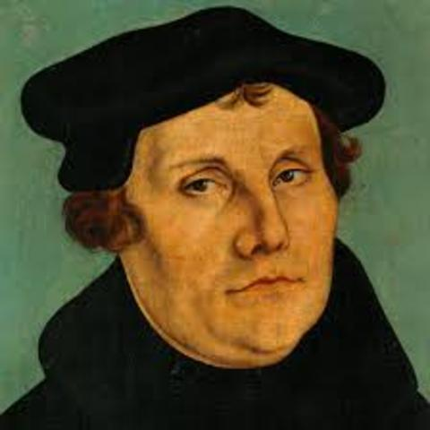 Martin Luther posts his 95 Theses