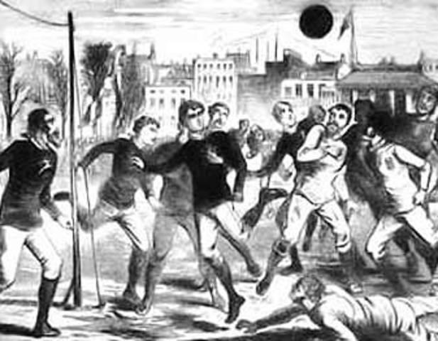 The first international soccer match