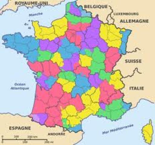 Provinces become Departments