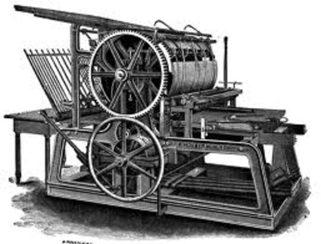 Johan Gutenberg invents the Printing Press