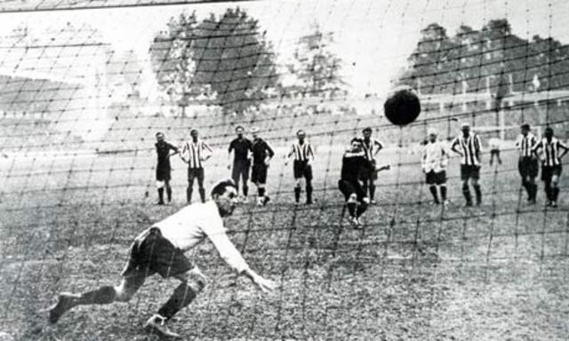 Soccer played in the Olympics for the first time