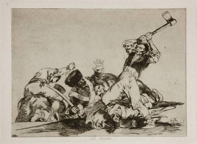 """""""Lo mismo ,Desastres de la guerra"""" Goya"""