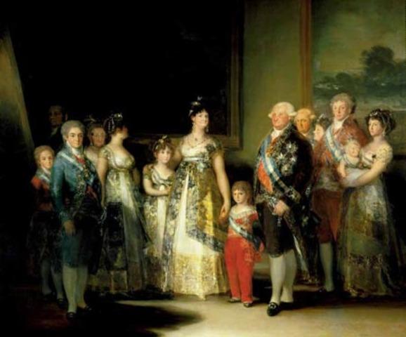 Charles IV family portrait, Goya