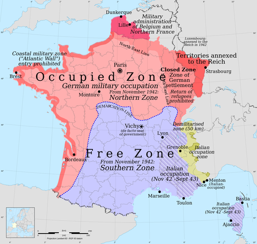 Germany and Italy's invasion of France