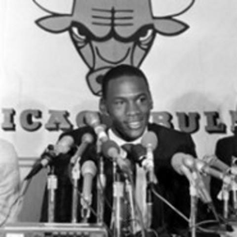 Michael Jordan gets drafted
