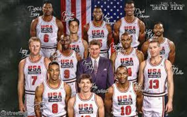 the best team ever created together the dream team brings the gold but to the usa