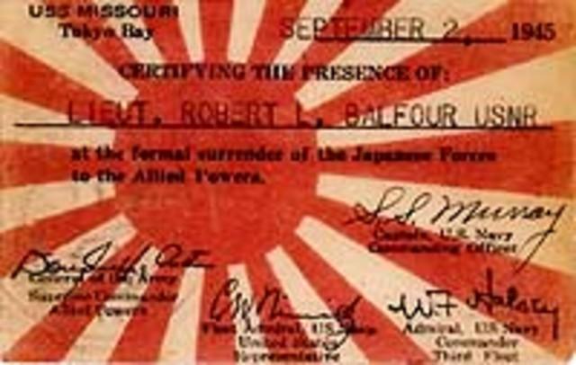 Formal Surrender Of Japan